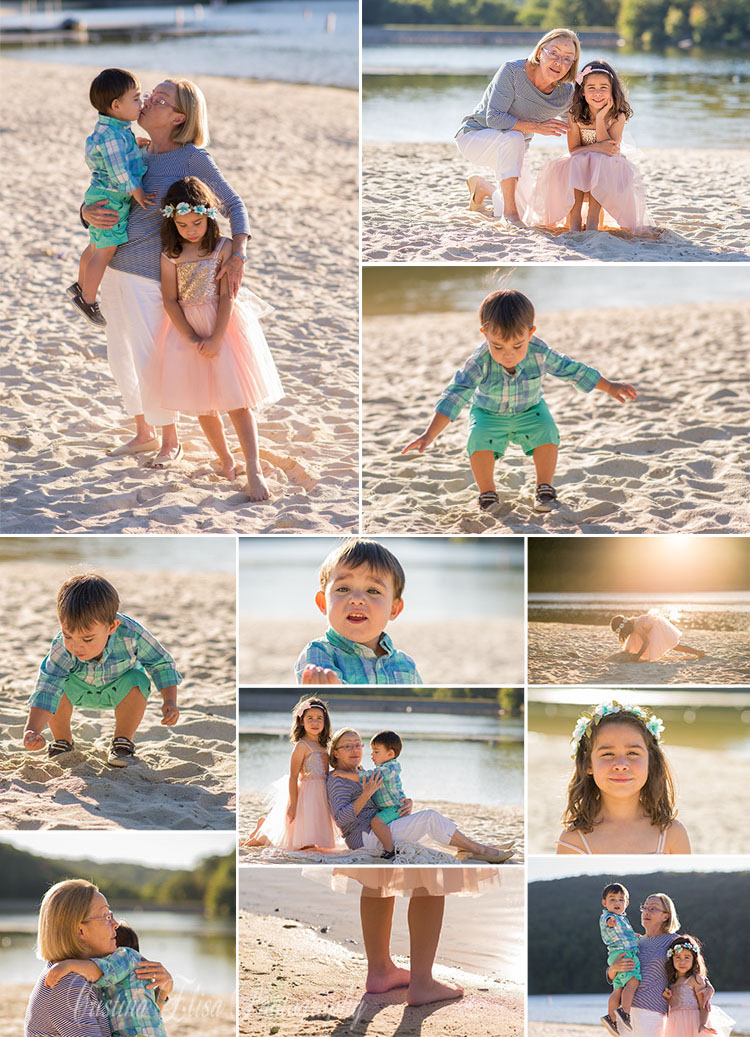 Golden Hour Photography, Family Session, Grandparent Session, Beach Photo session, Lake Photography, Cristina Elisa Photography