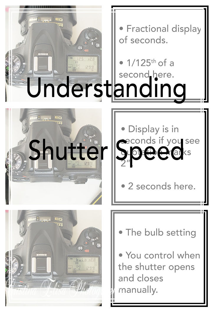 Understanding Shutter Speed by Cristina Elisa Photography